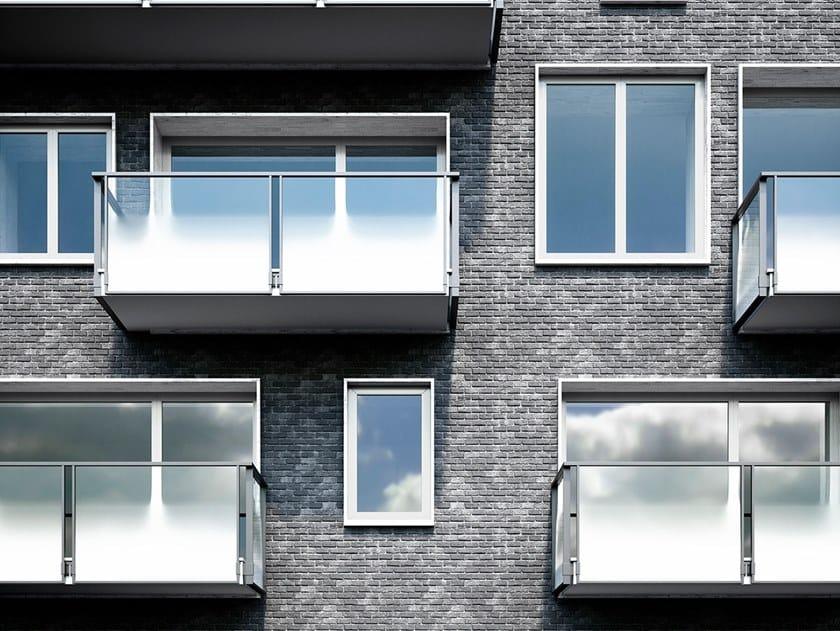 Parapetto in alluminio con pannelli in vetro OLIMPIA VETRO by FARAONE
