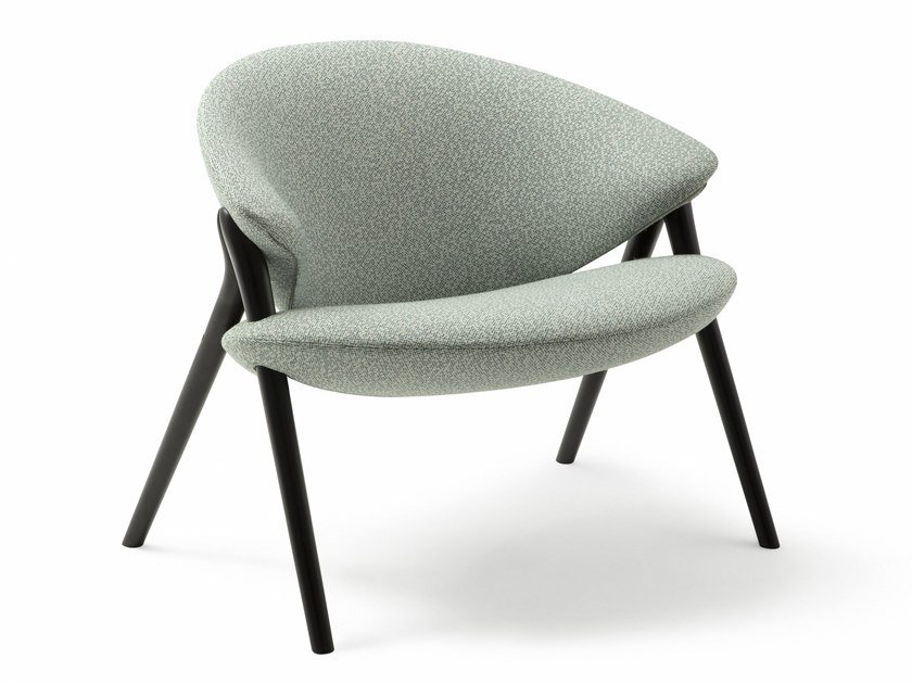 Fabric easy chair with removable cover OLIVA by Zanotta