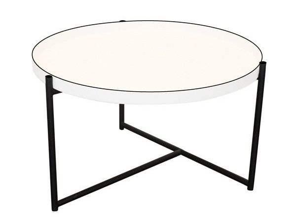 Round aluminium coffee table with tray OLIVER | Coffee table by Evie Group
