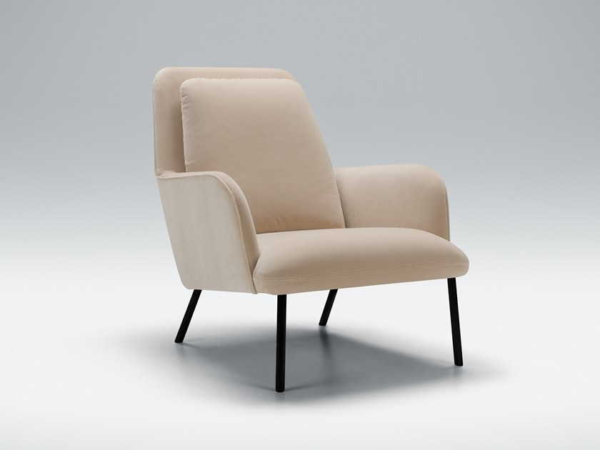 Fabric armchair with armrests OLIVER | Fabric armchair by Sits