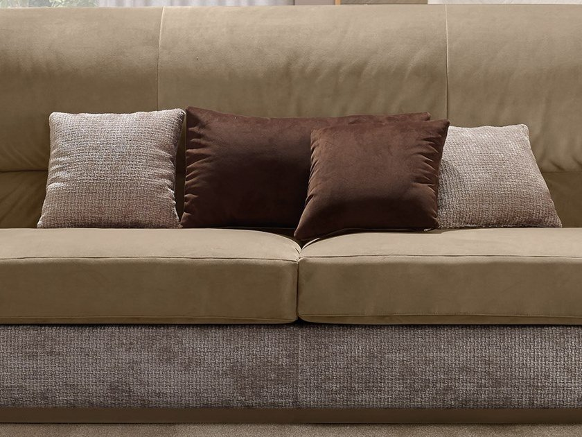 Solid-color fabric sofa cushion OLIVER   Solid-color cushion by A.R. Arredamenti