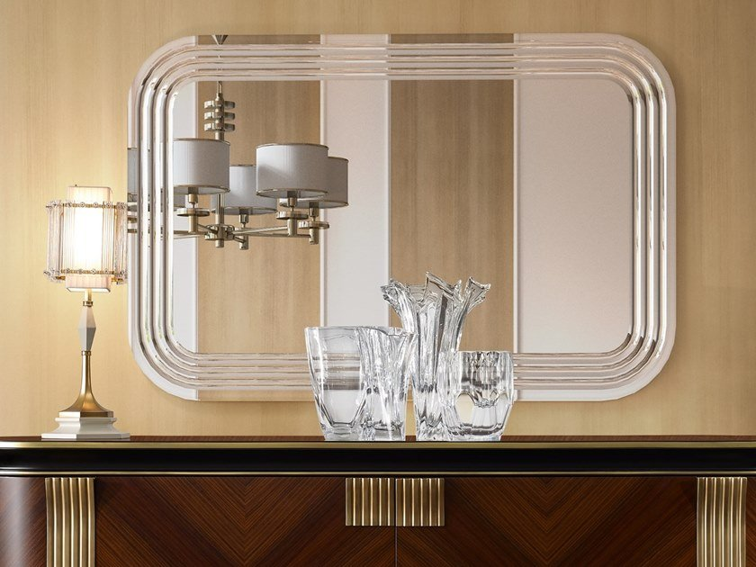 Rectangular wall-mounted mirror OLIVER | Wall-mounted mirror by A.R. Arredamenti