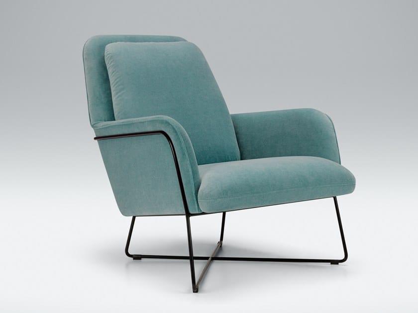 b OLIVER Velvet armchair Sits relc2445b9e