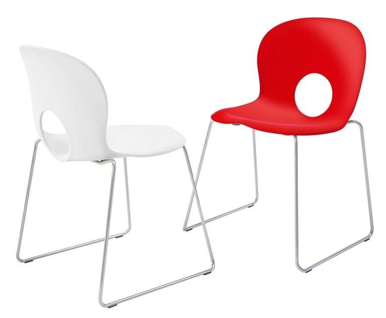 Sled base polypropylene chair OLIVIA SLIM by REXITE