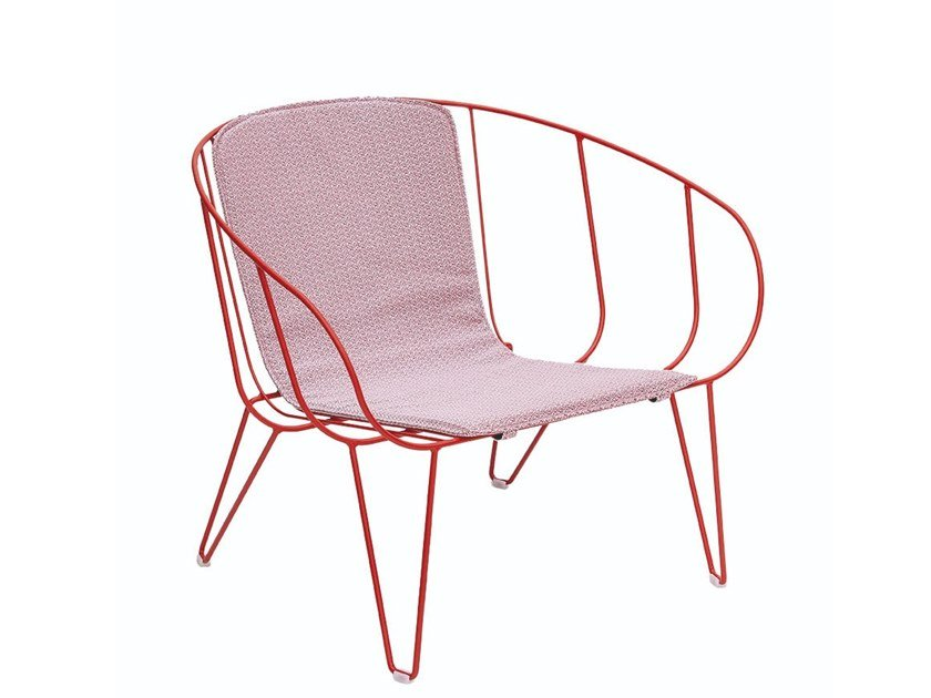 Garden steel easy chair with armrests OLIVO | Easy chair by iSimar