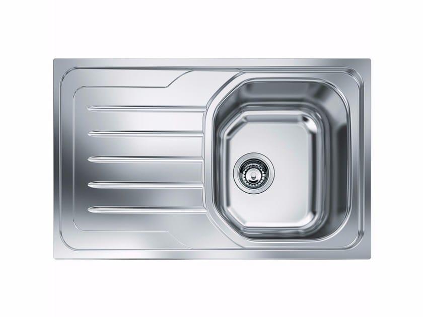 Lavello a una vasca in acciaio inox con sgocciolatoio OLX 611 by FRANKE