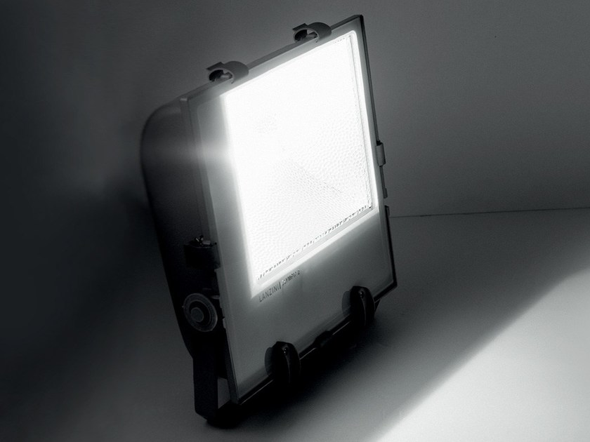 LED die cast aluminium Outdoor floodlight OLYMPIA 2 by LANZINI