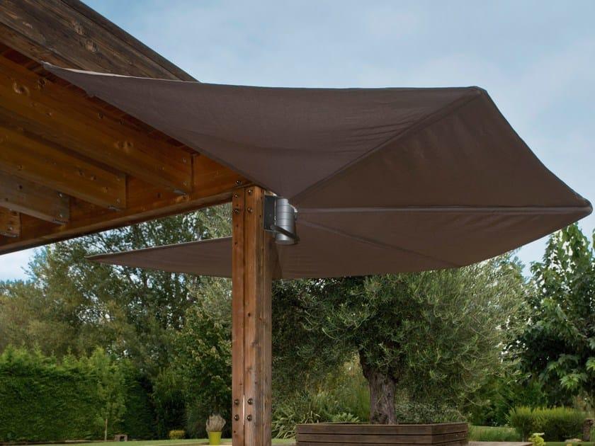 Wall Mounted Technical Fabric Garden Umbrella OM | Wall Mounted Garden  Umbrella By Calma