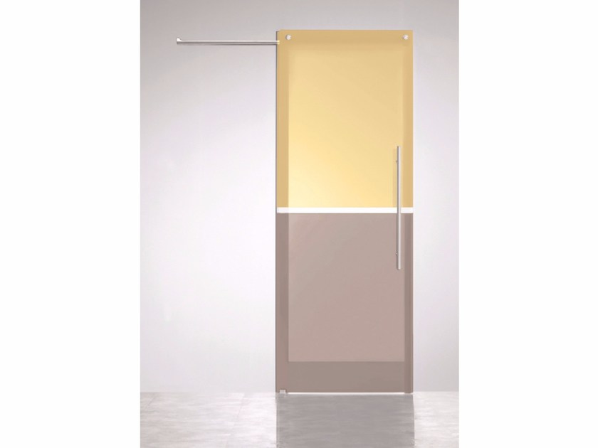 Stained Glass Sliding Door Bicolor Champagne Ombra By Casali