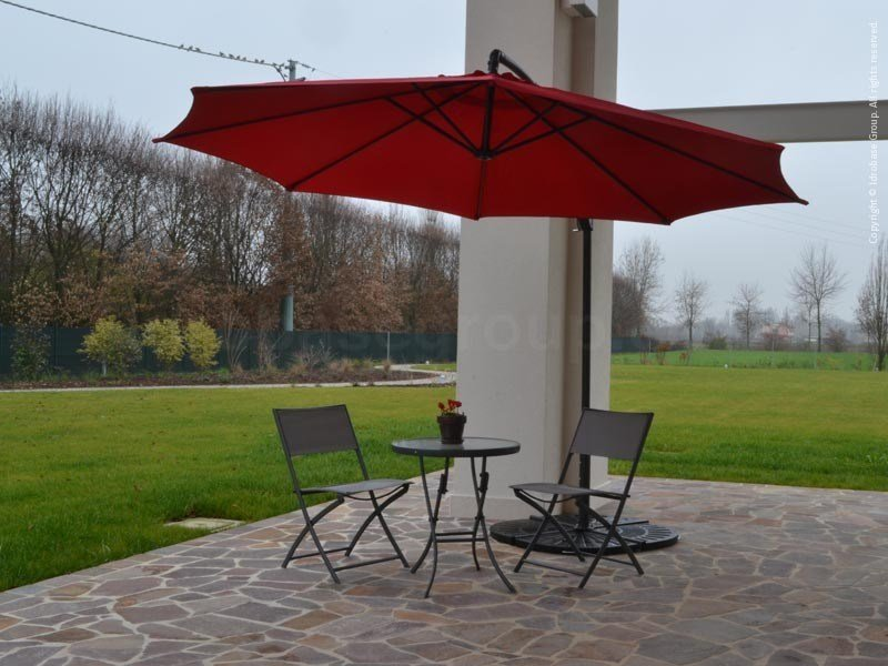 Offset round suspended Garden umbrella OMBRA ROSSA by Enjoy your Life