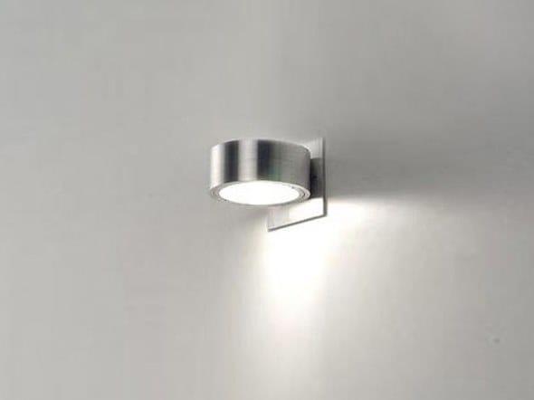 Semi-inset Anodized aluminium wall light OMEGA 1 IN by BEL-LIGHTING