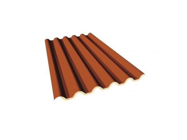 Pannello metallico coibentato per copertura OMEGA ECO by ITALPANNELLI