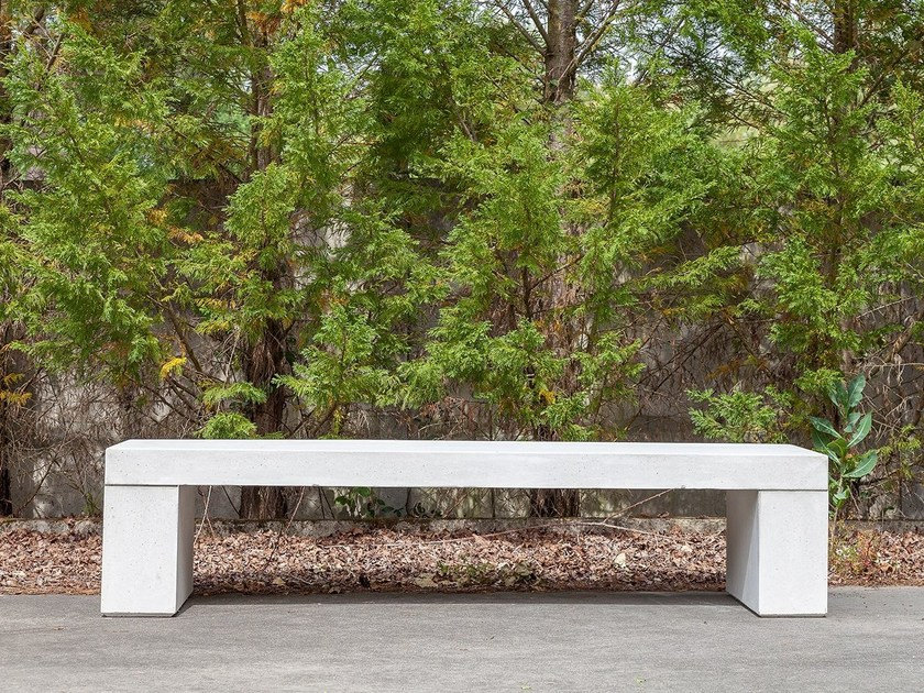 Backless concrete Bench OMEGA by SIT