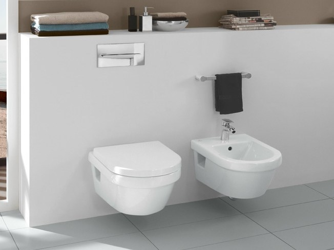 Wall-hung ceramic bidet ARCHITECTURA | Wall-hung bidet by Villeroy & Boch
