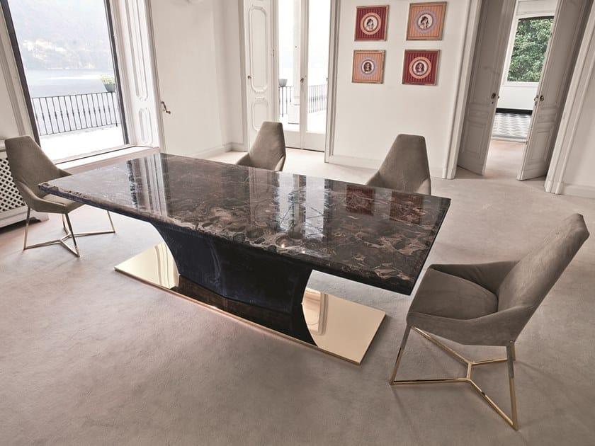 Tavolo da pranzo rettangolare in marmo omotesando by longhi design