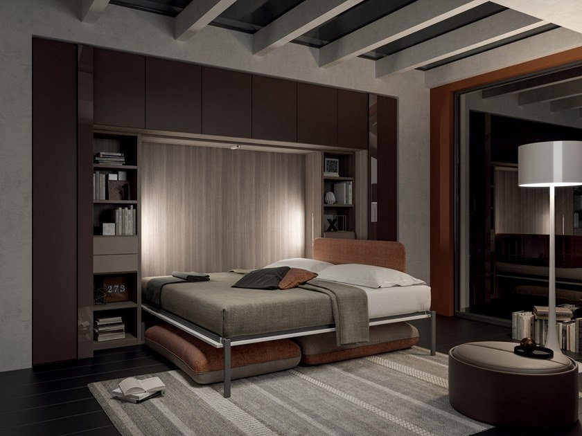 Pull-down bed with integrated lighting ON-OFF CONFIGURATION 267 by TUMIDEI