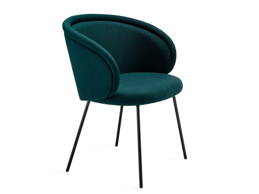 Fabric chair with armrests ONA ARMCHAIR by Freifrau