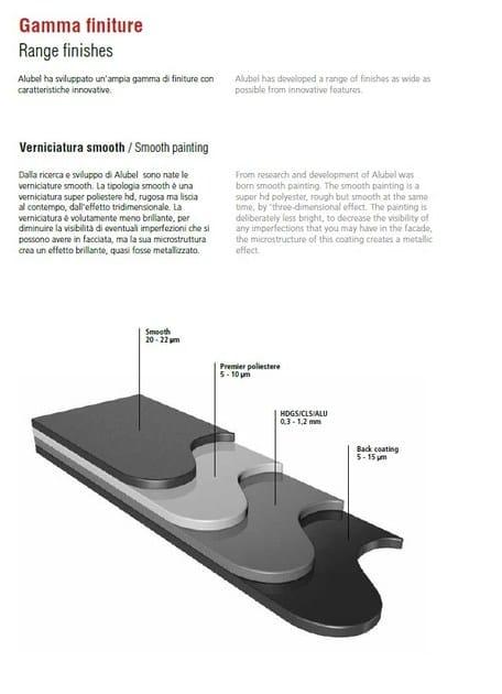 alluminio preverniciato smooth