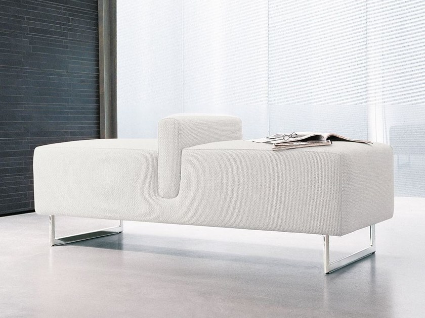 Upholstered polyurethane bench ONDA by ALIVAR