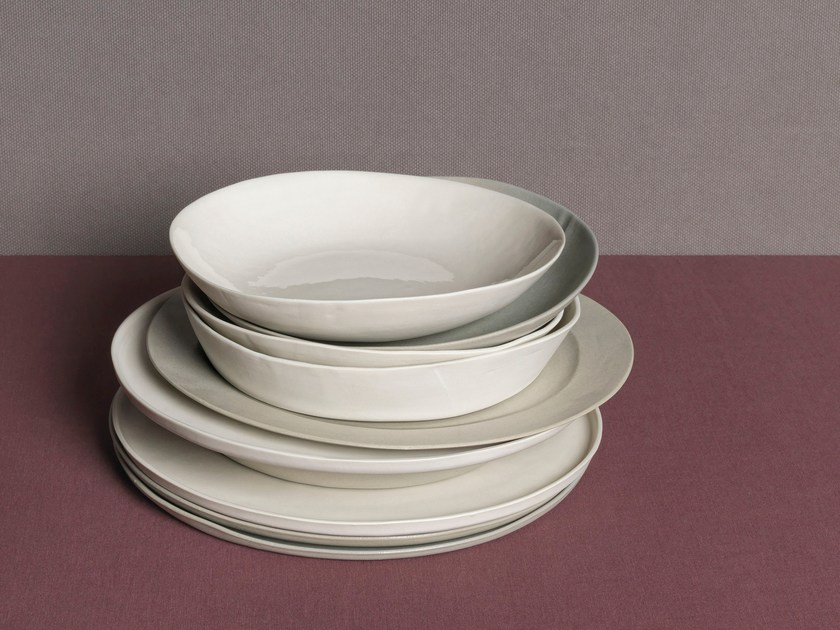 Porcelain deep plate ONDA | Deep plate by Society Limonta