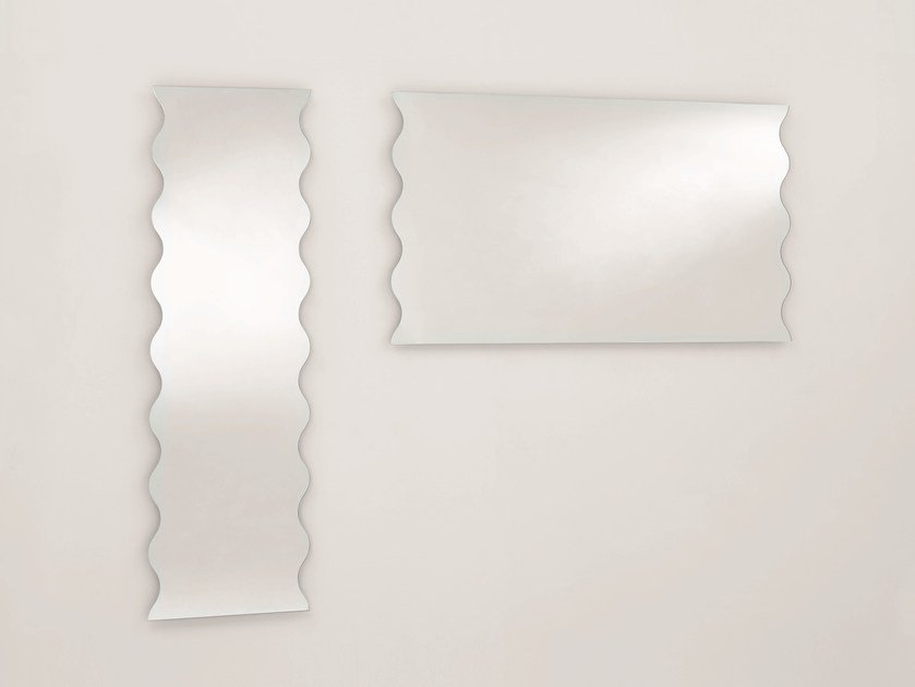 Rectangular wall-mounted mirror ONDA by Glas Italia