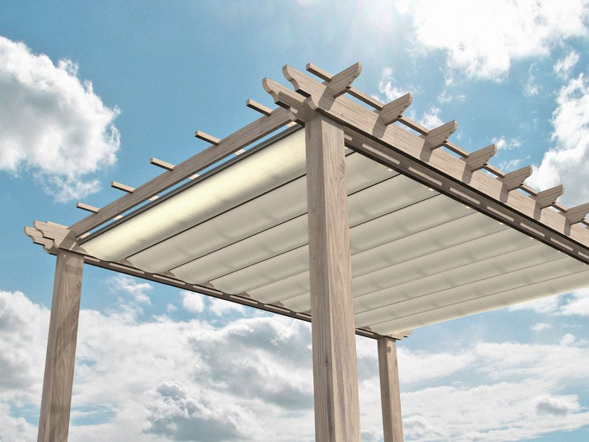 Retractable roof with PVC inserts ONDA UP by Giulio Barbieri