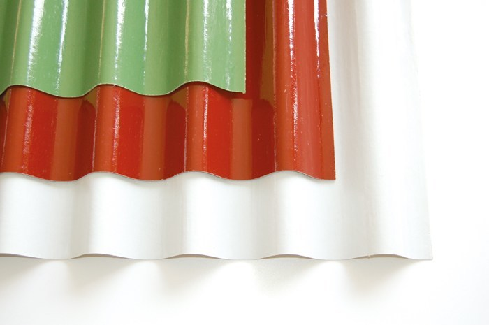 Roof panel in opaque plastic laminate ONDUCLAIR COLOR by ONDULINE ITALIA