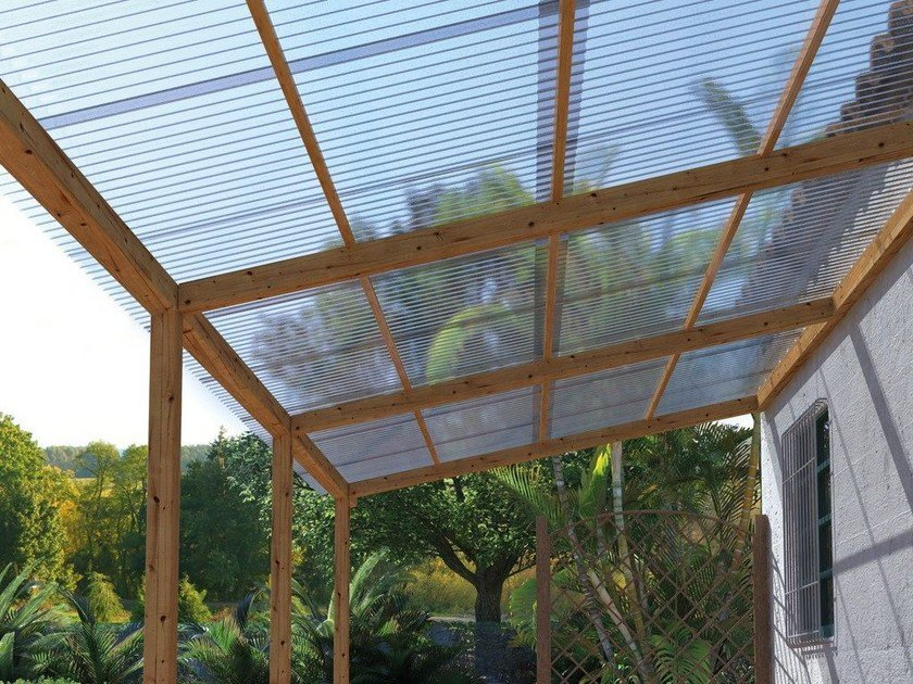 Roof panel in translucent plastic laminate ONDUCLAIR PLR by ONDULINE ITALIA