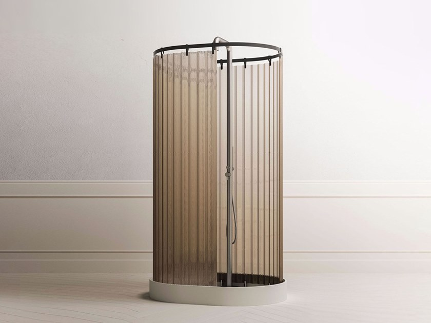 Free standing shower cabin with tray ONEWEEK | Shower cabin by Blu Bleu