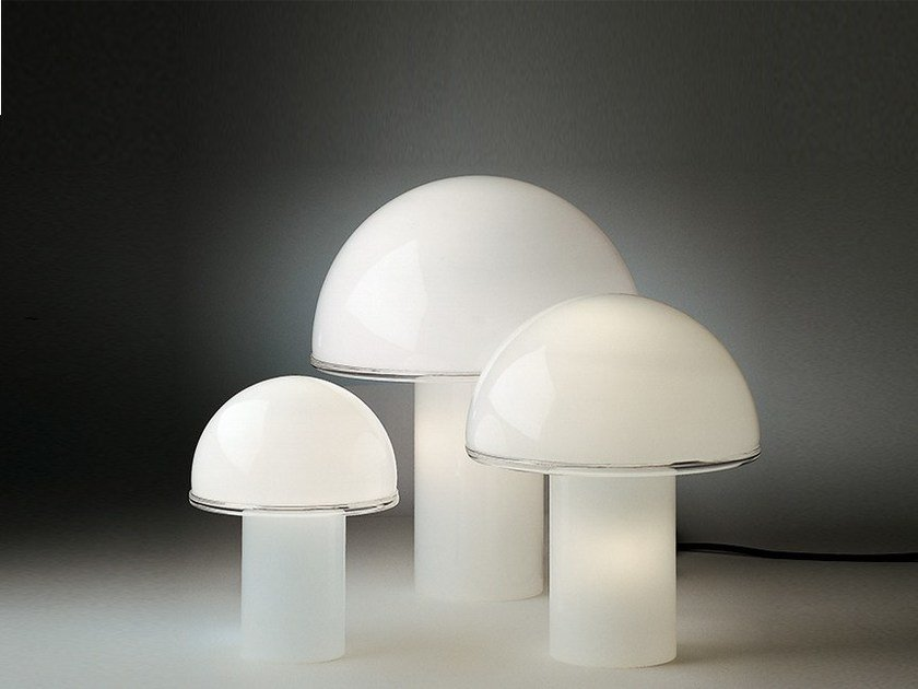 Halogen opal glass table lamp ONFALE by Artemide