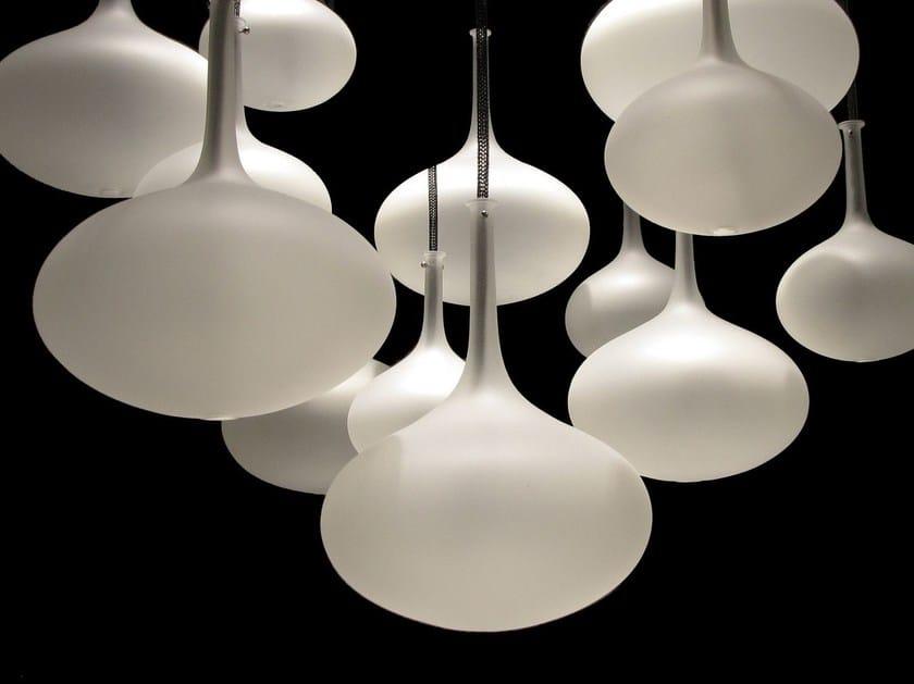 Contemporary style glass pendant lamp ONION by melogranoblu