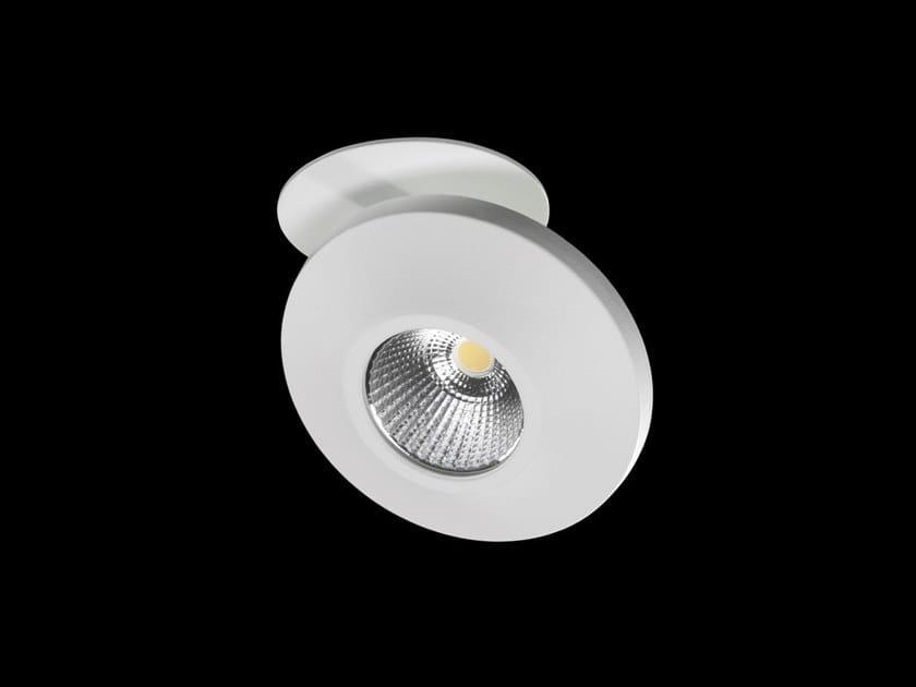 Faretto a LED orientabile rotondo in alluminio verniciato a polvere ONIS DISC by LUNOO