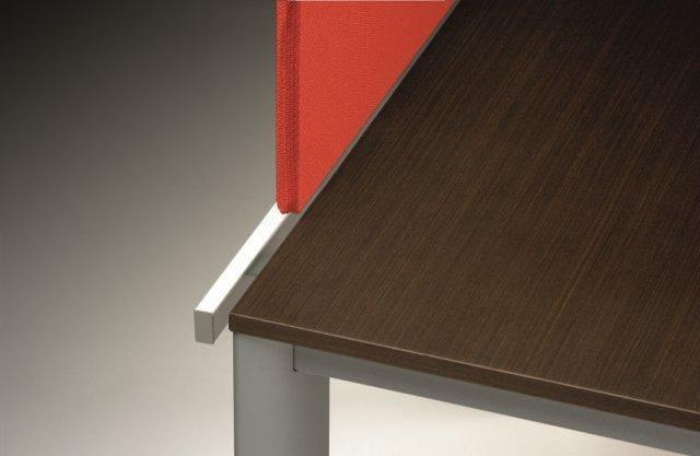 ONLINE3 Postazione di lavoro - Particolare frontale per scrivania prof.60/80 - Divisorio frontale per scrivania