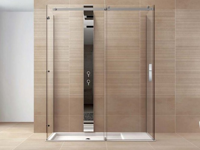 Rectangular tempered glass shower cabin OOPS PS3L By DISENIA