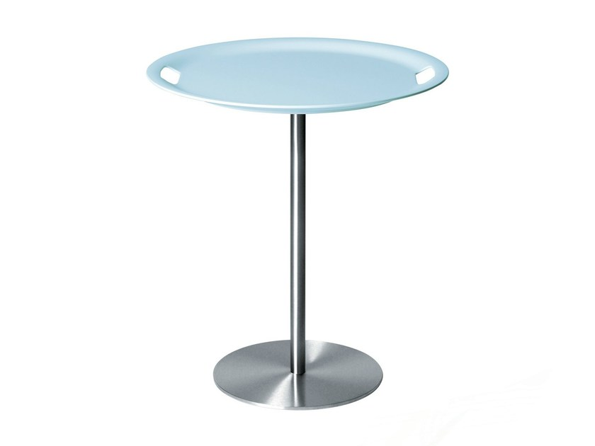Round coffee table with tray OP-LA by Alessi