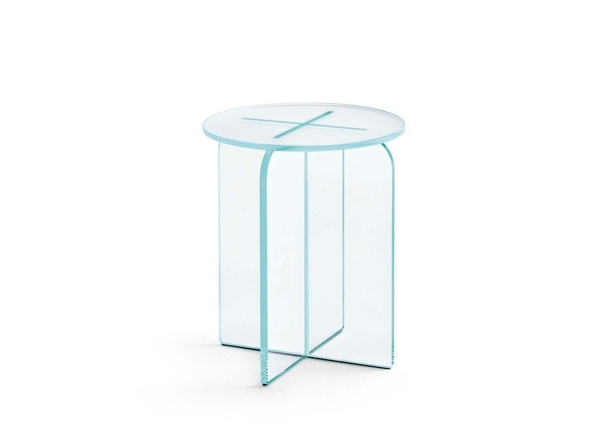 Glass stool / coffee table OPALINA | Stool by Tonelli Design