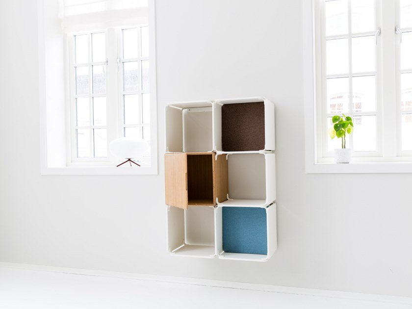 Open wall cabinet OPE - FIVE SPACES & CABINET COMPACT by Ope