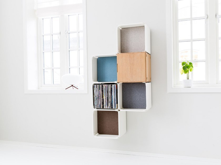 Open wall cabinet OPE - FIVE SPACES & CABINET SEMI-COMPACT by Ope