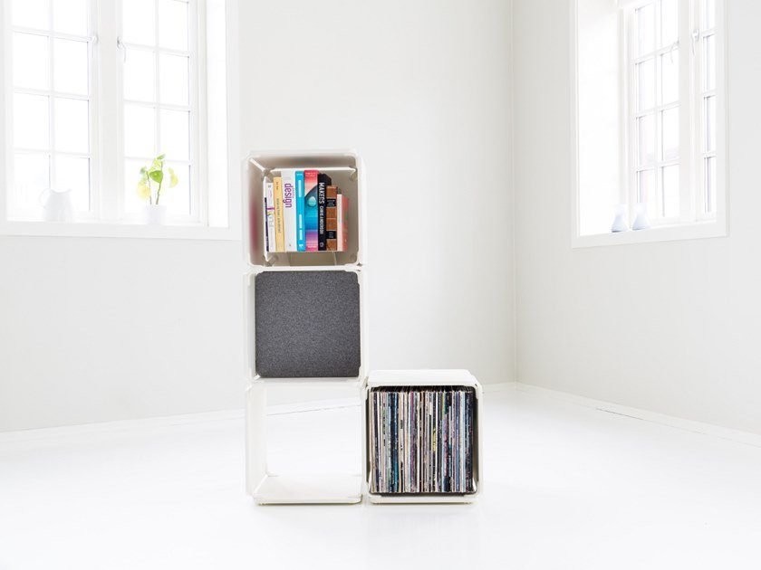 Open bookcase OPE - FOUR SPACES AT AN ANGLE by Ope