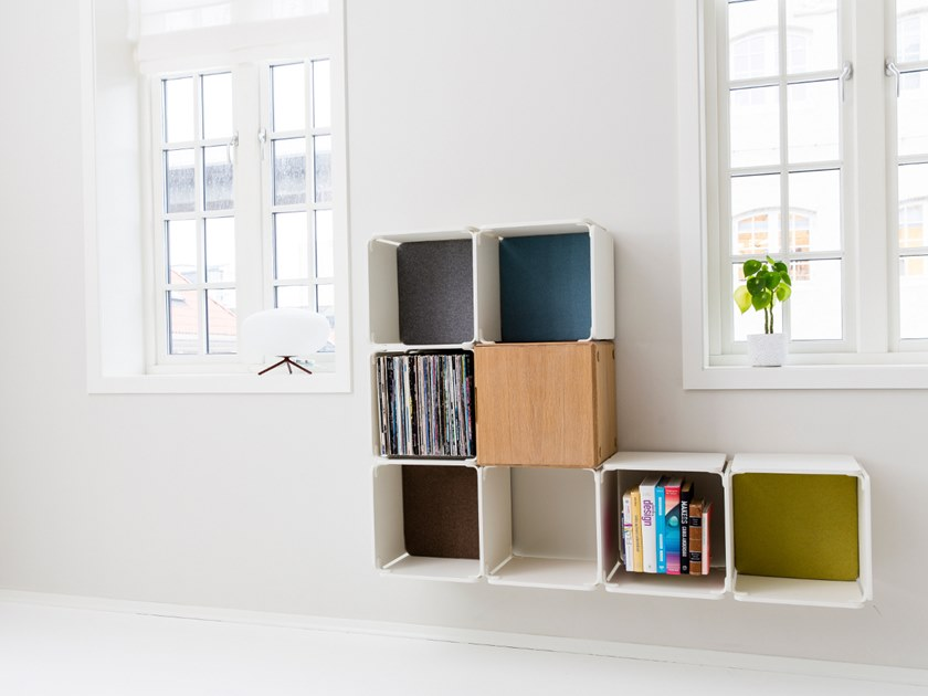 Open wall-mounted bookcase OPE - SHELVING/SIDEBOARD COMBINATION by Ope
