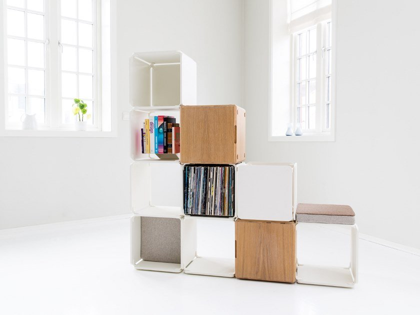 Open divider bookcase OPE - SPACE DIVIDER WITH 2 CABINETS by Ope