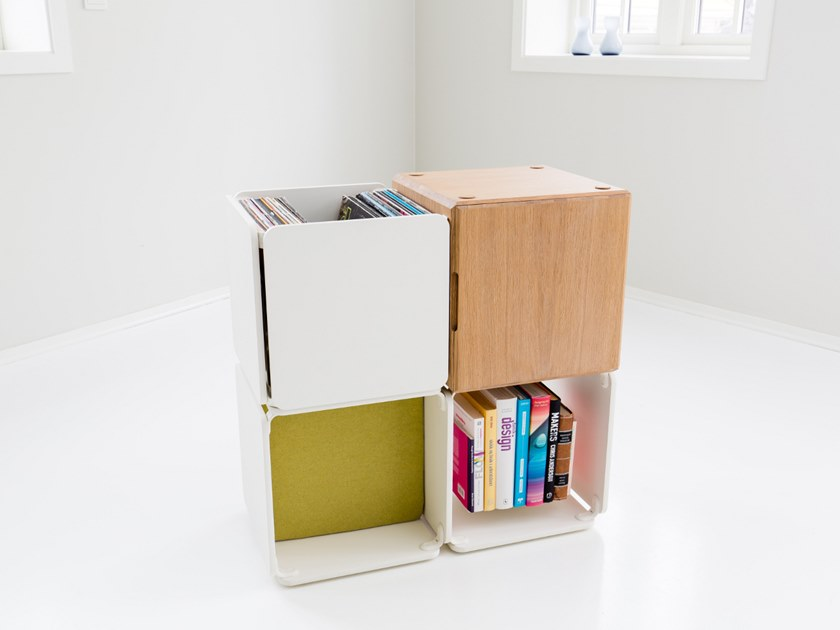 Open bookcase OPE - THREE SPACES & CABINET by Ope