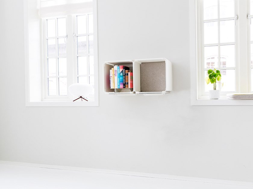 Open horizontal wall cabinet OPE - TWO SPACES SIDE BY SIDE by Ope