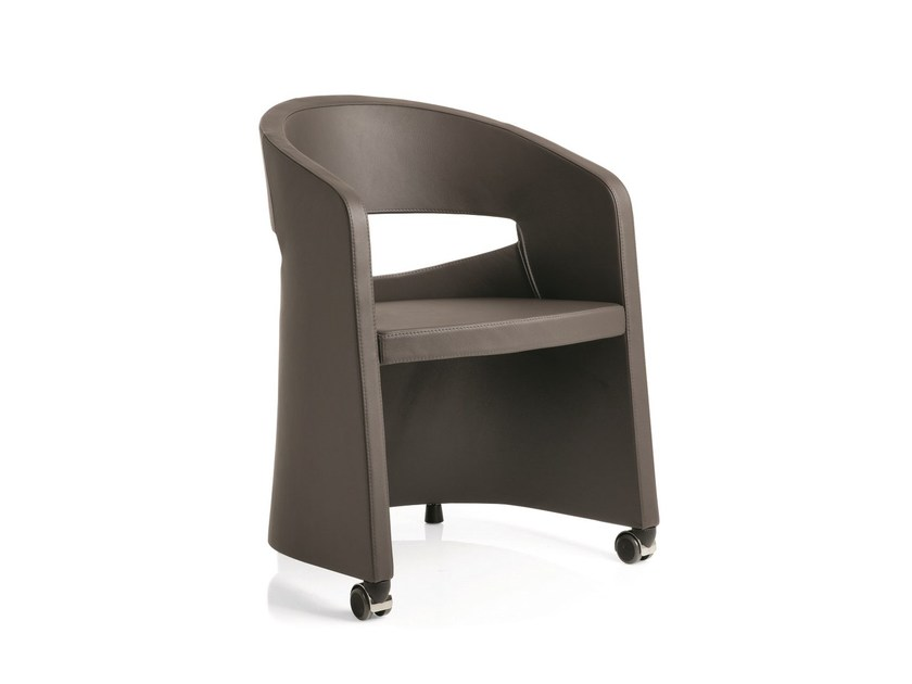 Easy chair / auditorium seats OPEN | Easy chair with casters by Emmegi