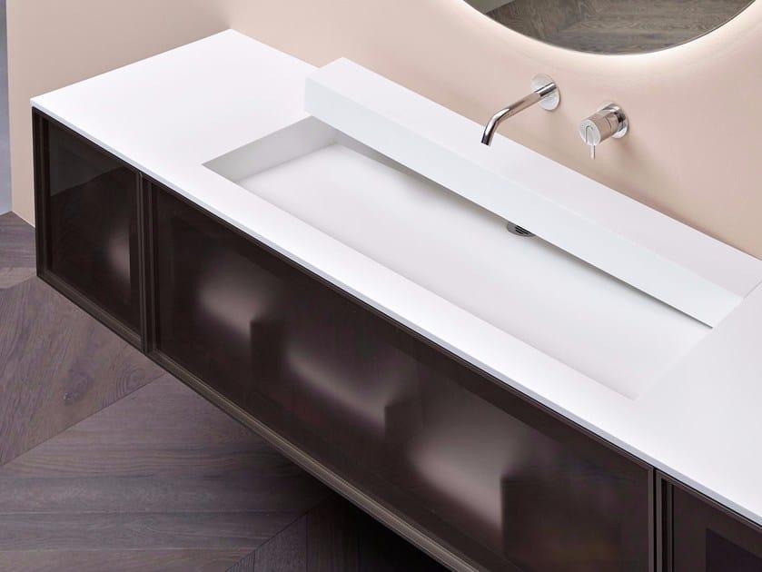 Corian washbasin open slot by antonio lupi design design for Badezimmer corian