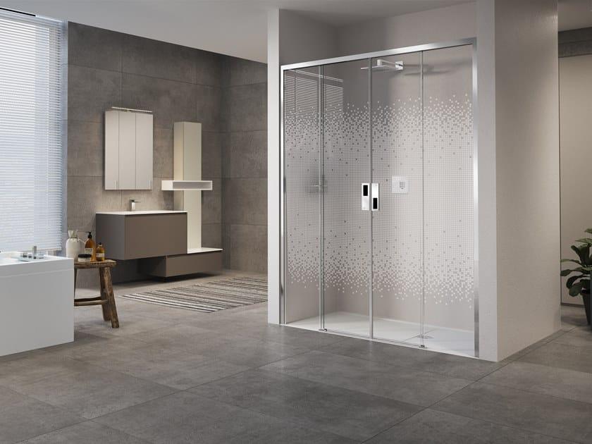 Box doccia a nicchia con porta scorrevole OPERA 2A by NOVELLINI