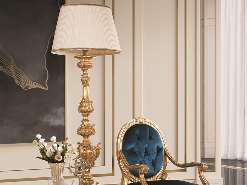 Gold leaf floor lamp OPERA | Floor lamp by Andrea Fanfani