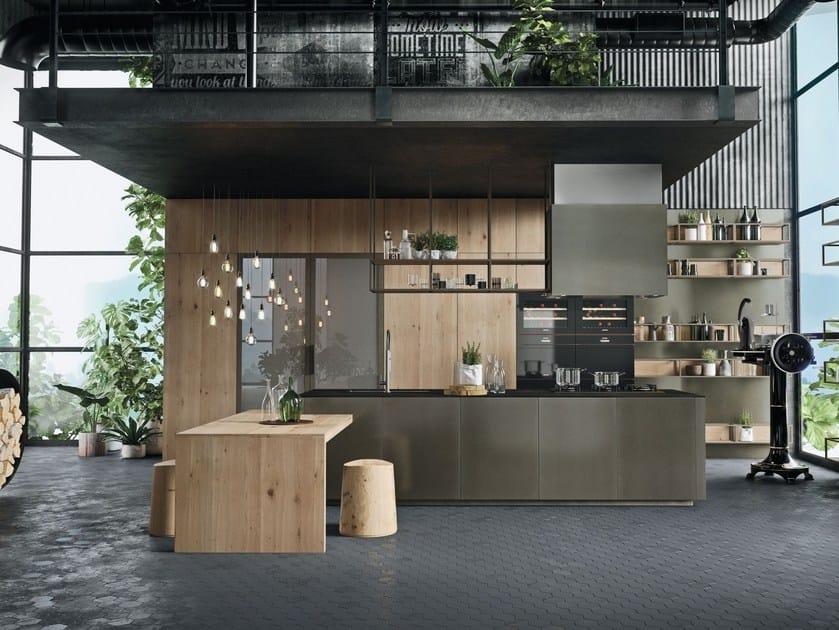 Cucina con isola senza maniglie OPERA | Cucina senza maniglie - Snaidero