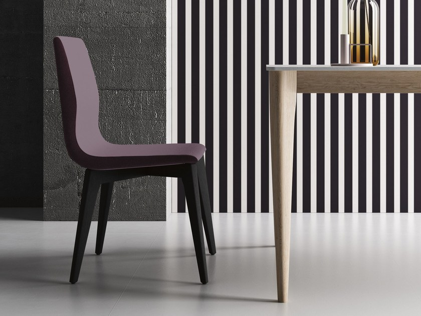 Upholstered imitation leather restaurant chair OPERÀ S by Imperial Line
