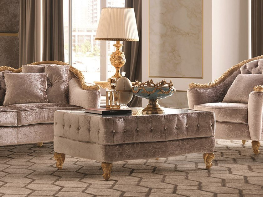 Rectangular fabric coffee table OPERA | Fabric coffee table by Andrea Fanfani
